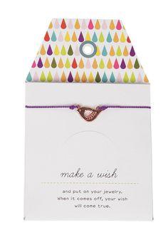 MINT Womens Elsa Bird Rose Gold Silk Card Bracelet purple #planetsports