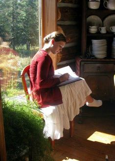 Life at Providence Lodge: The Beauty of the Lord Woman Reading, Jolie Photo, Slow Living, Poses, Simple Living, Dream Life, Foto E Video, Spring Summer, Lace Skirt