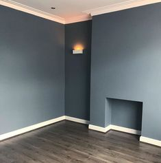 Navy walls with dark wood floors= a dream combination. Check out our amazing prices at Lifestyle Flooring UK #CheapWoodFlooring Cheap Wood Flooring, Vinyl Wood Flooring, Oak Laminate Flooring, Flooring Sale, Luxury Vinyl Flooring, Wood Vinyl, Grey Flooring, Dark Wood Floors Living Room, Living Room Flooring