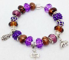 Camp European Style Charm Bracelet by Graceandliz on Etsy, $15.00