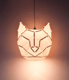 Lámpara 'gato' de origami • cool cat origami lamp