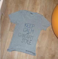 KEEP CALM AND GANGNAM STYLE!  4 cousin:)  #keepcalm #gangnamstyle #tshirt