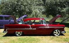 1955 Chevrolet Bel Air Sport Coupe - modified - red - RH side ...