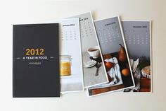 2012 A Year in Food Calendar from Sweet Fine Day / Whimsy & Spice. So nice.
