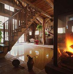 Bath house, Dunton Hot Springs, Colorado.