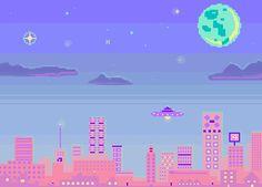 a u.f.o. visits the pink city by sunnyday26