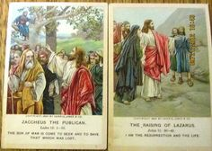 1894 1896 Little Bible Lesson Pictures Cards