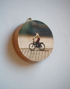 Going Downhill Decorative Wood Block Wall Hanging Made With Mounted Original Photograph