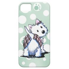 Dressed To Kilt Westie Phone Case iPhone 5 Cases