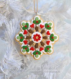 Handcrafted Polymer Clay Snowflake Ornament