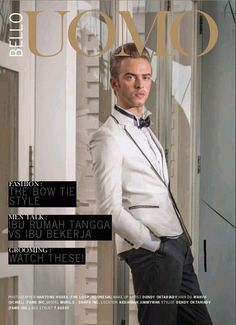 Groom make up for cover magazine at Bello Uomo
