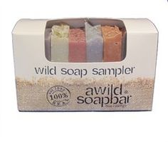 wild soap sampler - #giftidea $12.00 Love the scents and it lasts a long time (specially since it's 8 bars @ 1oz each)