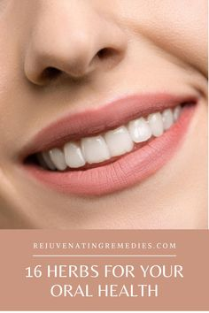 Inflamed gums, dental pain, mouth ulcers or simply bad breath…all these can be fought naturally. Here are some of the best herbs for your oral health. HerbsForOralHealth OralRemedies OralHealthCare Natural Remedies For Allergies, Natural Health Remedies, Herbal Remedies, Herbs For Health, Health Tips, Best Mouthwash, Healthy Lifestyle Habits, Healing Herbs, Oral Health