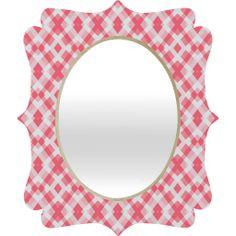Lisa Argyropoulos Pink Peppermint Twist Quatrefoil Mirror | DENY Designs Home Accessories