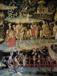 """Tapestry 'after the Indian Manner.' """"The Vyne"""" Estate, Basingstoke, Hampshire England. wool and silk. made in London. Hampshire England, Rococo Style, National Trust, Manners, Soho, Tapestry, France, Indian, London"""