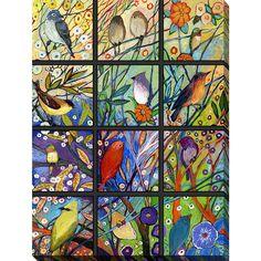 Picture Perfect International Jennifer Lommers '13 Birds' Giclee Print Canvas Wall Art (13 Birds)