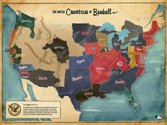 This Is A Picture Of A Map Full Of Major League Baseball Teams All - Map of us baseball teams