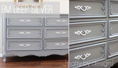Benjamin Moore Deep Silver - great color to repaint bathroom cabinet
