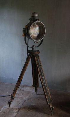 vintage industrial search light ..  etsy.com