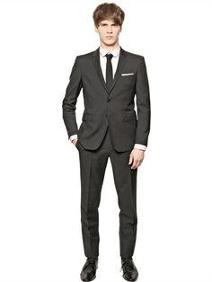 BURBERRY LONDON GRAIN DE POUDRE WOOL SUIT Mens Fashion, Fashion Outfits, Fashion Clothes, Burberry, Wool Suit, Luxury Shop, Mens Clothing Styles, Suit Jacket, Menswear