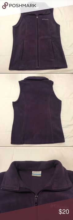 Columbia vest 💜Columbia women's small fleece vest, like new condition worn only a couple times. Perfect color and layer of warmth for fall, winter, and early spring. All zippers in working condition, no stains, or holes.💜 Columbia Jackets & Coats Vests