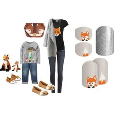 Jamberry Nails - Mommy and Me Set by kspantonjamon on Polyvore featuring Paige Denim, Kate Spade, Accessorize and Ralph Lauren