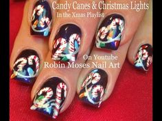 Nail Art Tutorial | Easy Christmas Nails! | DIY Holly and Xmas Wreath! - YouTube