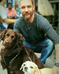 THAS-Tom Hardy Argentina Station • #TBT (From here)  Tom and dogs… always cute.