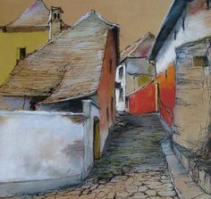 Tarcsay Béla пастель: goods_for_art — LiveJournal Pen And Wash, Abstract Painters, Impressionist, Fine Art, Drawings, Artwork, Soft Pastels, Lovely Things, Figurative