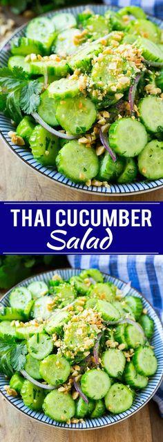 Thai Cucumber Salad   Easy Cucumber Salad   Thai Food   Healthy Salad