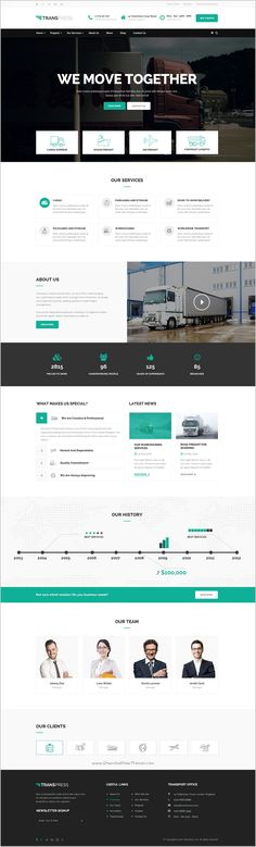Transpress – Transport, Logistics and Warehouse WordPress Theme Layout Site, Website Layout, Web Layout, Homepage Design, Web Design Trends, Intranet Design, Theme Forest, Site Vitrine, Layout Download