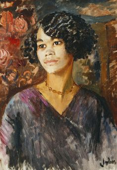 Augustus Edwin John - Portrait of a Young Negress (1937)