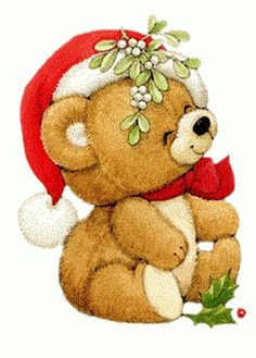 CHRISTMAS TEDDY BEAR, CLIP ART