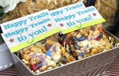 """""""Happy trails"""" trail mix as a party favor for a cowboy party Cowboy Party, Cowboy Birthday Party, Birthday Party Favors, Birthday Parties, Birthday Ideas, Party Party, 2nd Birthday, Rodeo Party, Horse Party Favors"""