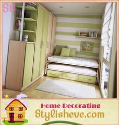Very cool idea for a small bedroom. I wish I could make this for my boys!