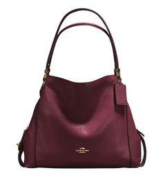 Sac cabas Edie 31 cuir Coach Rouge | Galeries Lafayette Lafayette, Fashion Bags, Shoulder Bag, Handbags, Stuff To Buy, Lifestyle, Design, Shoulder Bags, Purse