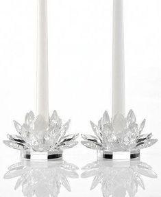 Godinger Crystal Lotus Candle Holders Set of 2 Lotus Candle Holder, Design Candle Holders, Unity Candle Holder, Wooden Candle Holders, Jar Candle, Floating Candles Wedding, Floating Candle Centerpieces, Hanging Candles, Flower Centerpieces