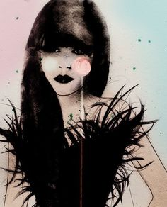 Lolly Dior 01  Art Print by LeighViner on Etsy, $28.00