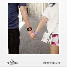 What a cute couple! Our ToyFloat and Velvety Chrono are really happy to enjoy this stroll together. Thank you Smilingischic! Use #ToyWatch if you wish to be featured among our best fans' pics! #ToyWatch #watch #watches #style #fashion #accessories #forher #forhim #holiday #travelo #love #black #purple #enjoy