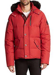 Moose Knuckles - 3Q Fur-Trimmed Puffer Jacket