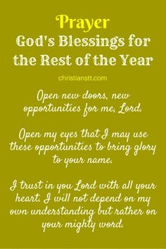 Prayer - God's Blessings for the Rest of the Year - pin Prayer for Financial Breakthrough and Money