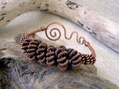 Multicoiled copper wire wrapped bangle