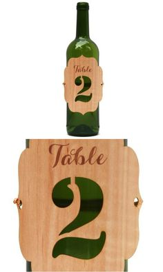 Vineyard and rustic weddings alike would be just perfect with the addition of these laser cut wood table numbers | Made on Hatch.co