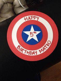 Birthday card captain America theme custom handmade for a special little man in my life