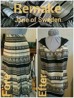 Hitta en kjol jag tyckte om och återlivade tyget till ett nytt linne.