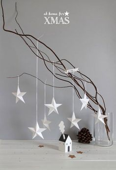 paper christmas ornaments barefootstyling.com