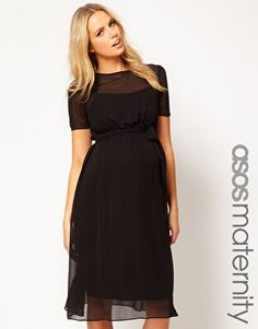 ASOS Maternity Midi Dress...need to remember that ASOS sells maternity clothes