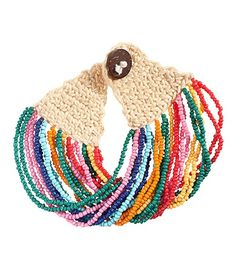 No pattern for this crochet and bead bracelet