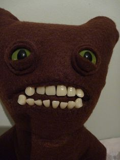 Grimace the Bear   a plush Fuggler 28cm by cathairandteeth on Etsy,