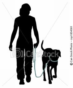 Stock Illustration - Dog training (Obedience): Command: Go at the leash! - stock illustration, royalty free illustrations, stock clip art icon, stock clipart icons, logo, line art, pictures, graphic, graphics, drawing, drawings, artwork $5.00